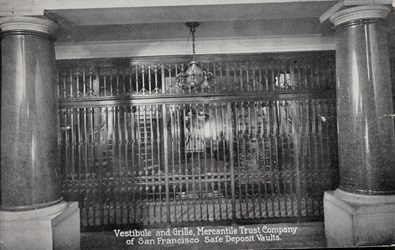 Vestibule and Grille, Mercantile Trust Company of San Francisco Safe Deposit Vaults.