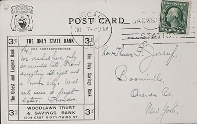 Reverse side: Woodlawn Trust and Savings Bank