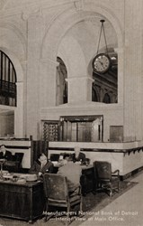 Manufacturers National Bank of Detroit�Interior View at Main Office