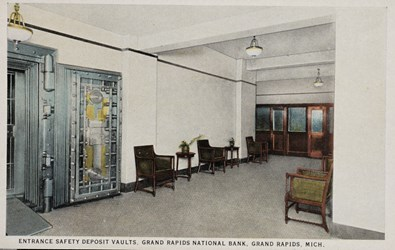Entrance safety deposit vaults, Grand Rapids National Bank, Grand Rapids, Mich.