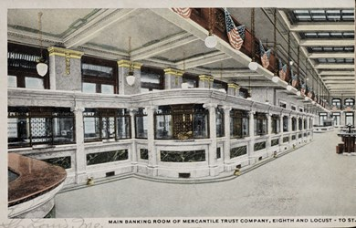 Main Banking Room of Mercantile Trust Company, Eighth and Locust-to St.