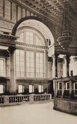 The National City Bank of New York. East End of Banking Room.