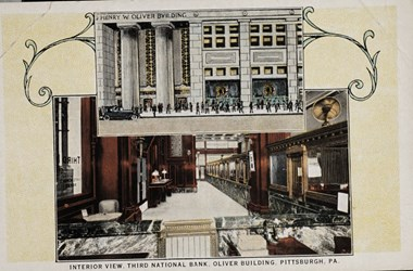 Interior view, Third National Bank, Oliver Building, Pittsburgh, PA.