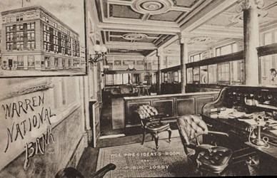 Vice President's Room and Public Lobby, Warren National Bank