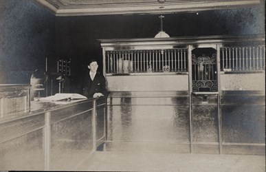 Man in bank