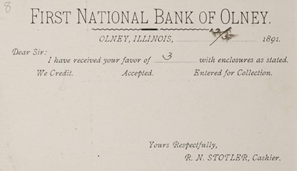 Reverse side: United States Postal Card