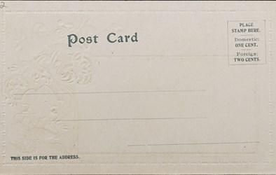 Reverse side: U.S. Treasury Bldg. Washington D.C.