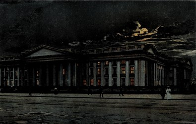 U.S. Treasury at Night