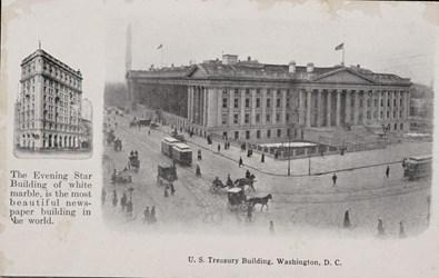Evening Star Building and U.S. Treasury Building