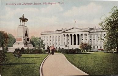 Treasury and Sherman Statue, Washington, D.C.