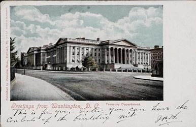 Greetings from Washington D.C. Treasury Department