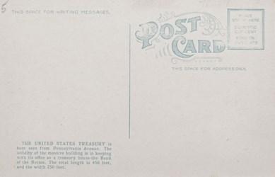Reverse side: United States Treasury and Washington Monument, Washington, D.C.