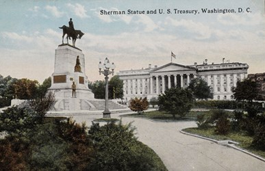 Sherman Statue and U.S. Treasury, Washington, D.C.