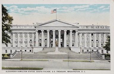 Alexander Hamilton Statue, South Facade, U.S. Treasury, Washington, D.C.