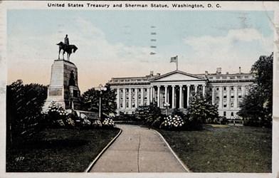 United States Treasury and Sherman Statue, Washington, D.C.