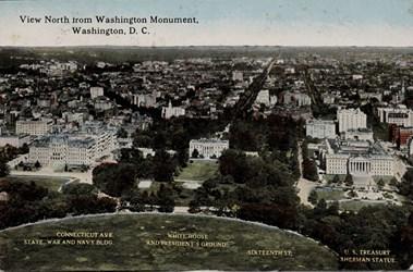 View North from Washington Monument, Washington, D.C.