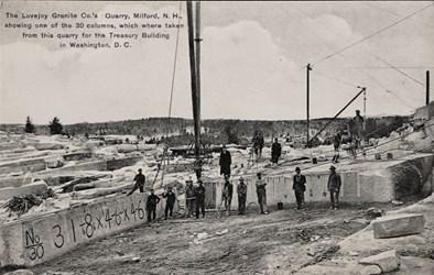 The Lovejoy Granite Co.'s Quarry, Milford, N.H.