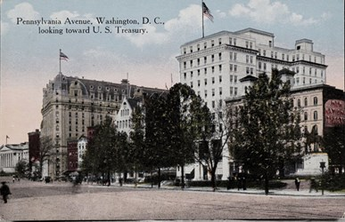 Pennsylvania Avenue, Washington, D.C., looking toward U.S. Treasury