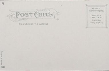 Reverse side: U.S. Post Office and Sub-Treasury, Boston, Mass.