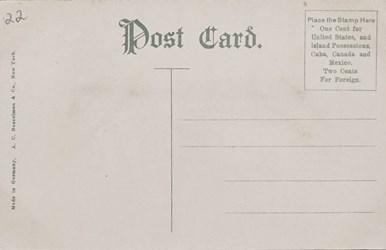 Reverse side: Reserve Silver Certificate Vault, U.S. Treasury, Washington, D.C.