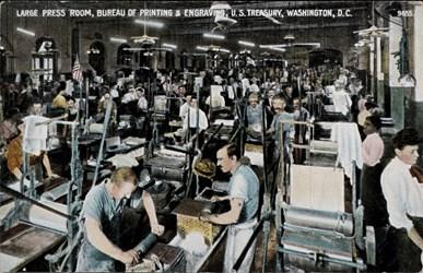 Large press room, Bureau of Printing & Engraving, U.S. Treasury, Washington, D.C.