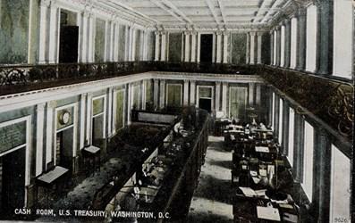 Cash Room, U.S. Treasury, Washington, D.C.