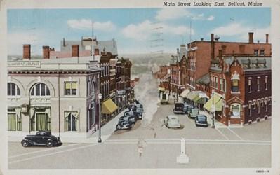 Main Street Looking East, Belfast, Maine 1B601-N