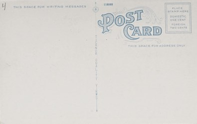Reverse Side: First National Bank, Brunscwick, ME.