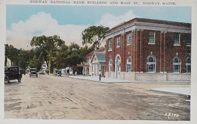 Norway National Bank Building and Main St., Norway, Maine. 28190