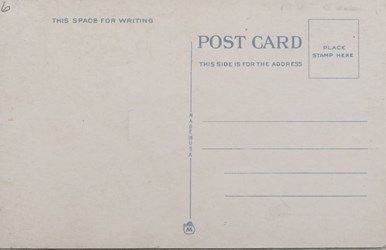 Reverse side: Norway National Bank Building and Main St., Norway, Maine. 28190