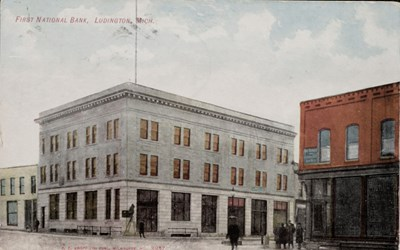 First National Bank, Ludington, Mich. C.C. Kropp Co. Publ, Milwaukee, No. 8937