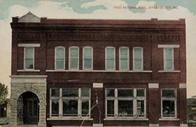 First National Bank, Appleton City, MO.