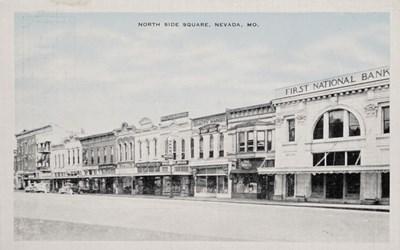 North Side Square, Nevada, MO.