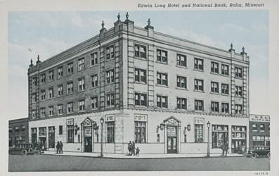 Edwin Long Hotel and National Bank, Rolla, Missouri.