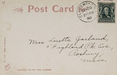 Reverse side: Tremont Square, Claremont, N.H.
