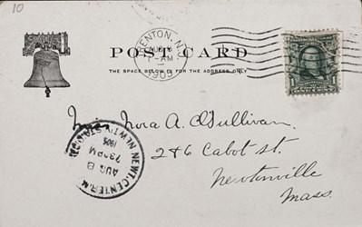 Reverse side: No. 554. Old U.S. Mint, Phila