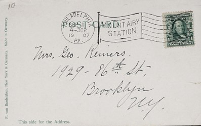 Reverse side: U.S. Series 126/5. Philadelphia, Pa. Old U.S. Mint
