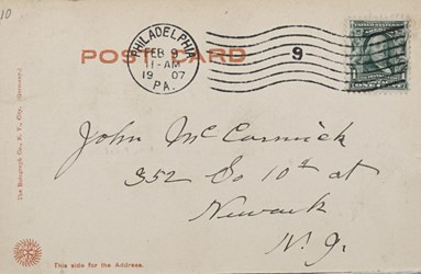 Reverse side: A 297. U.S. Mint, Philadelphia, PA. and U.S. Mint, old.