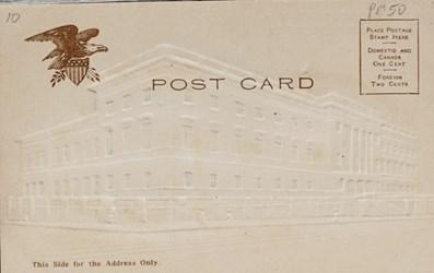 Reverse side: Print of the United States Mint, Philadelphia, PA.