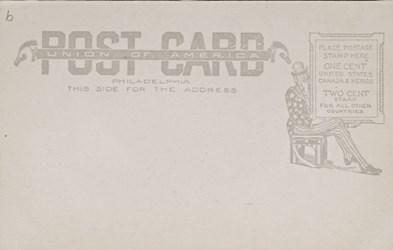 Reverse side: 519. U.S. Mint, 17th & Spring Garden STS. Phildaelphia