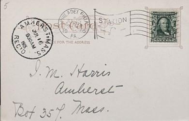 Reverse side: 3402- New U.S. Mint, Phila., Pa.