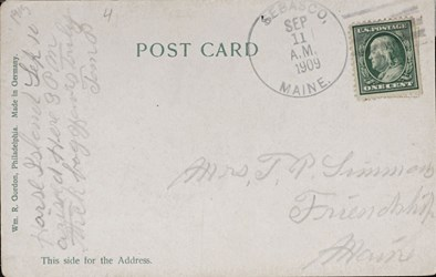 Reverse side: Philadelphia, Pa. New U.S. Mint.