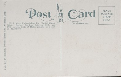 Reverse side: U.S. Mint, Philadelphia, Pa.