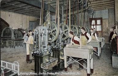 Making Money, United States Mint, Philadelphia, Pa.