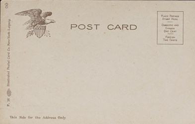 Reverse side: The Mint. Philadelphia, Pa. Weighing Silver Dollars.