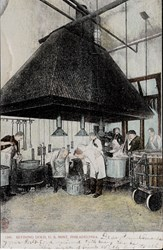 Refining gold, U.S. Mint, Philadelphia