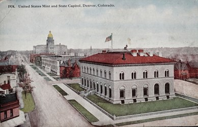 United States Mint and State Capitol, Denver, Colorado