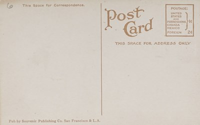Reverse side: The Mint, San Francisco, Cal.
