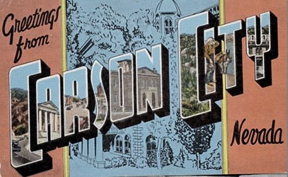 Greetings from Carson City, Nevada