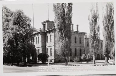 Carson U.S. Mint, Corner Stone laid Sept. 24, 1866, operations started Jan. 8, 1870, Carson City, Nevada